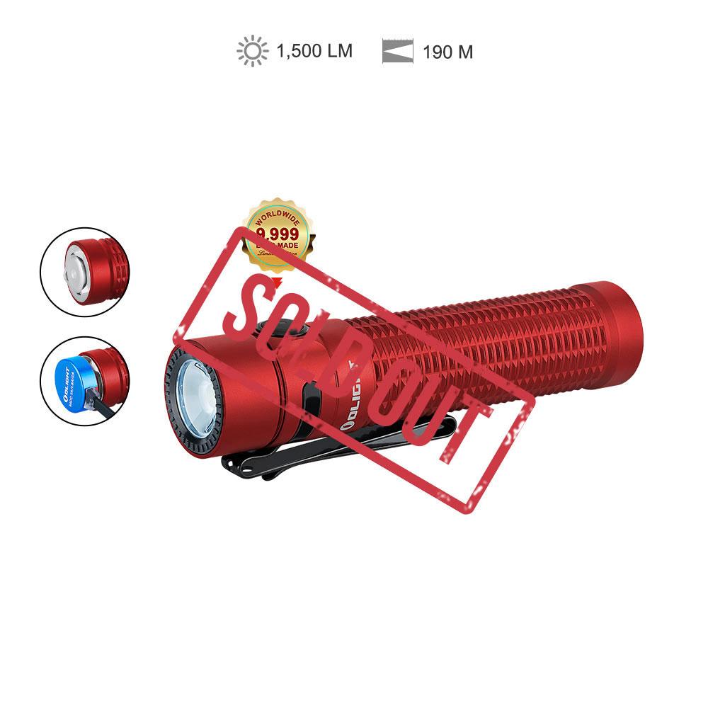 Warrior Mini Pocket Flashlight - Red