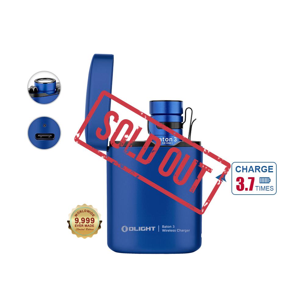 Baton 3 Rechargeable Flashlight - Blue Premium Edition
