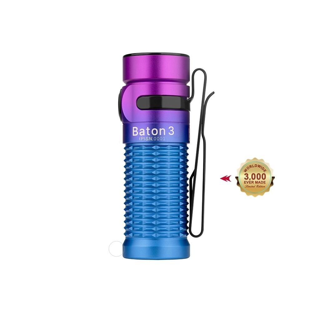 Baton 3 Rechargeable Flashlight - Purple Gradient