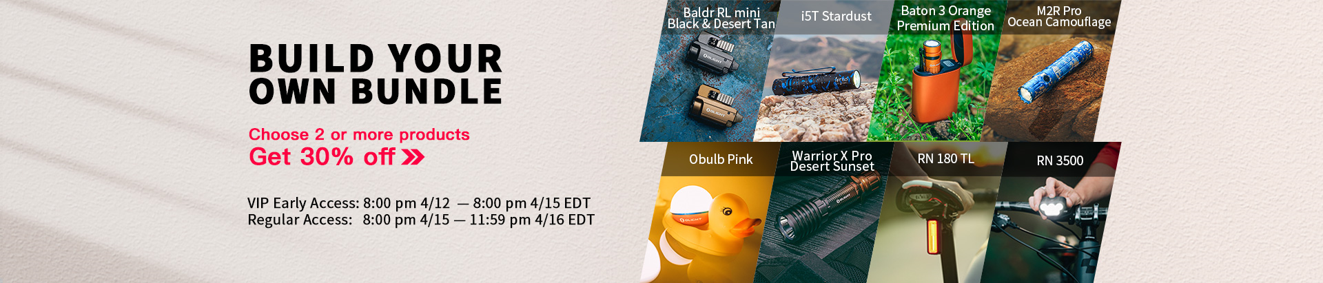 Build Your Own Bundle To Win April New Product!