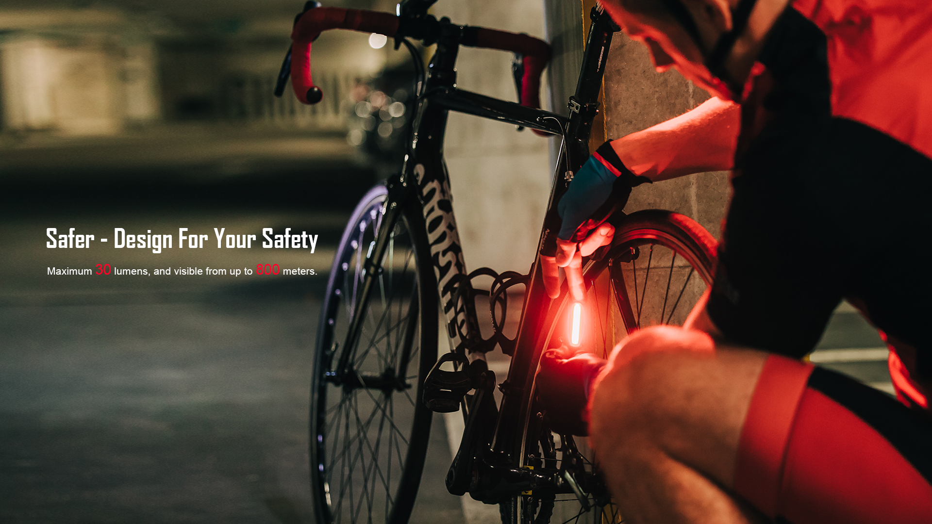 Outdoor & Camping Reliable - Smart Bicycle Rear Light SEEMEE 30