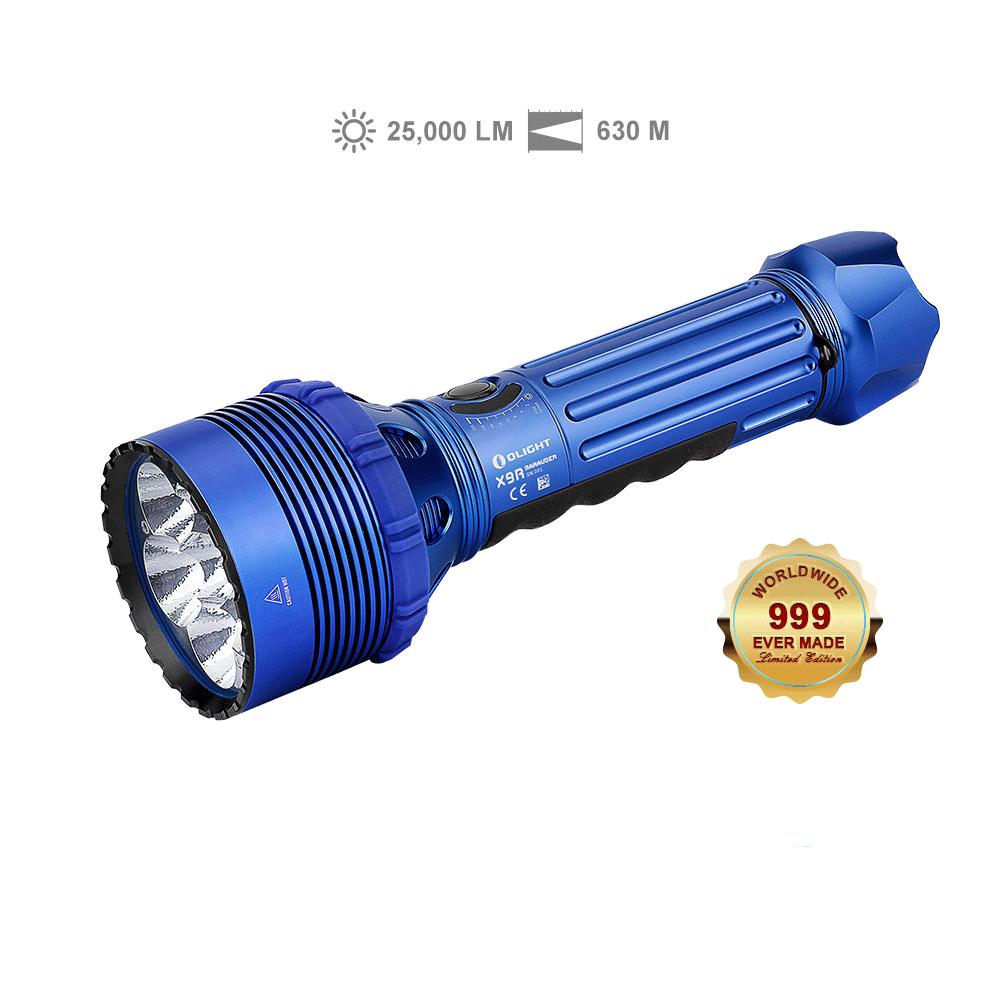 X9R Marauder High Lumen Flashlight - Blue