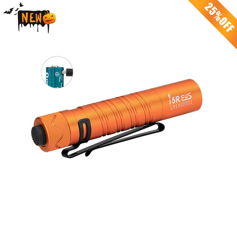 i5R USB-C Rechargeable Flashlight - Orange