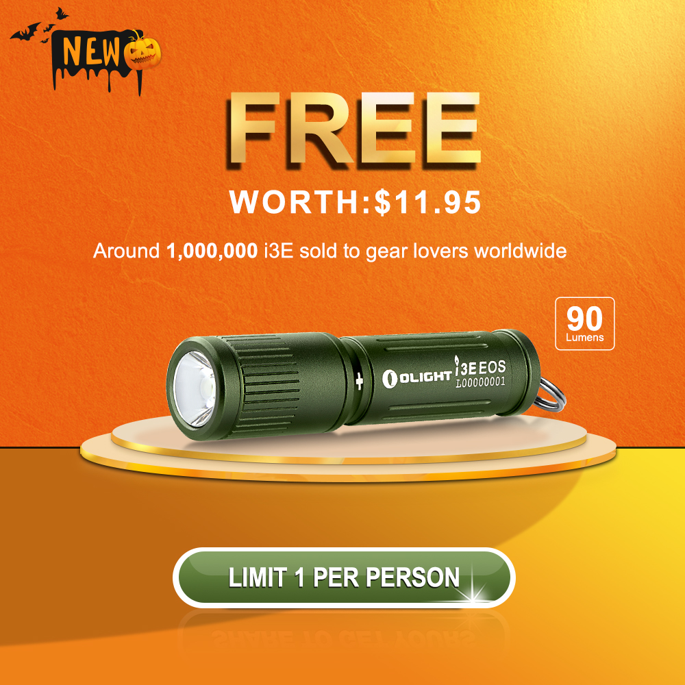 Free i3E Gift Flashlight - OD Green