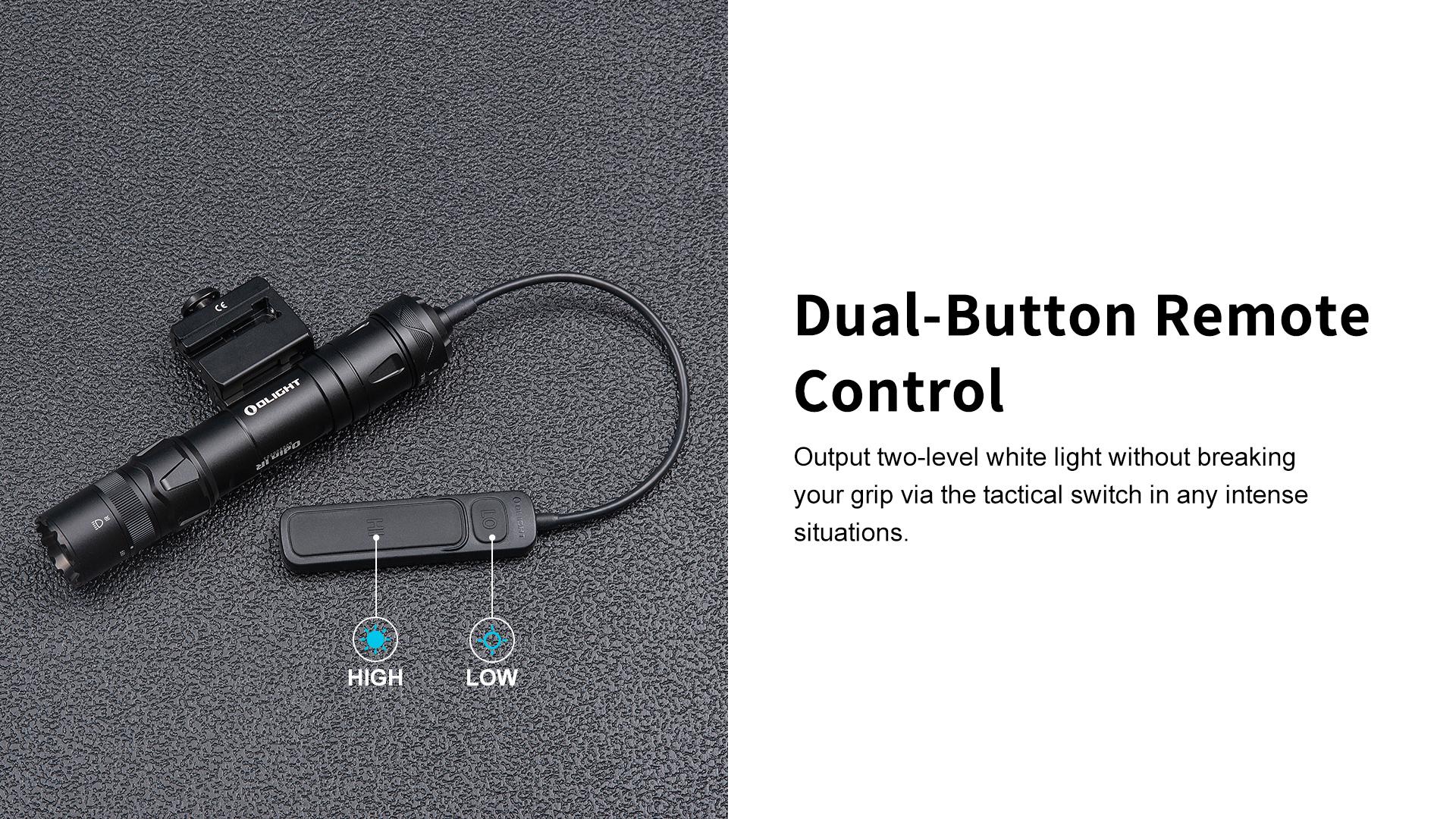 Pro tactical flashlight Olight Odin kit