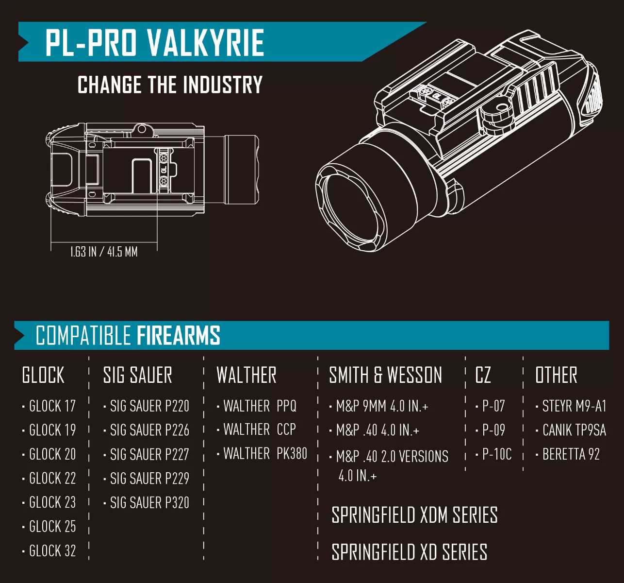 PL-Pro Valkyrie compatible equipment