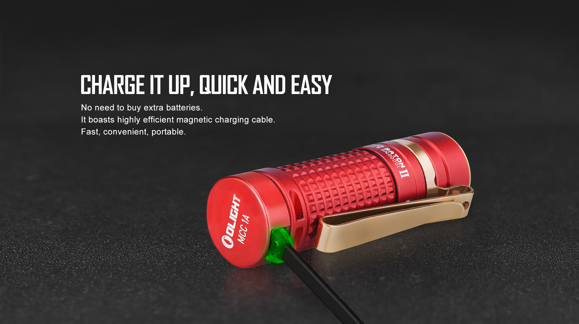 small powerful flashlight S1R Baton II Red