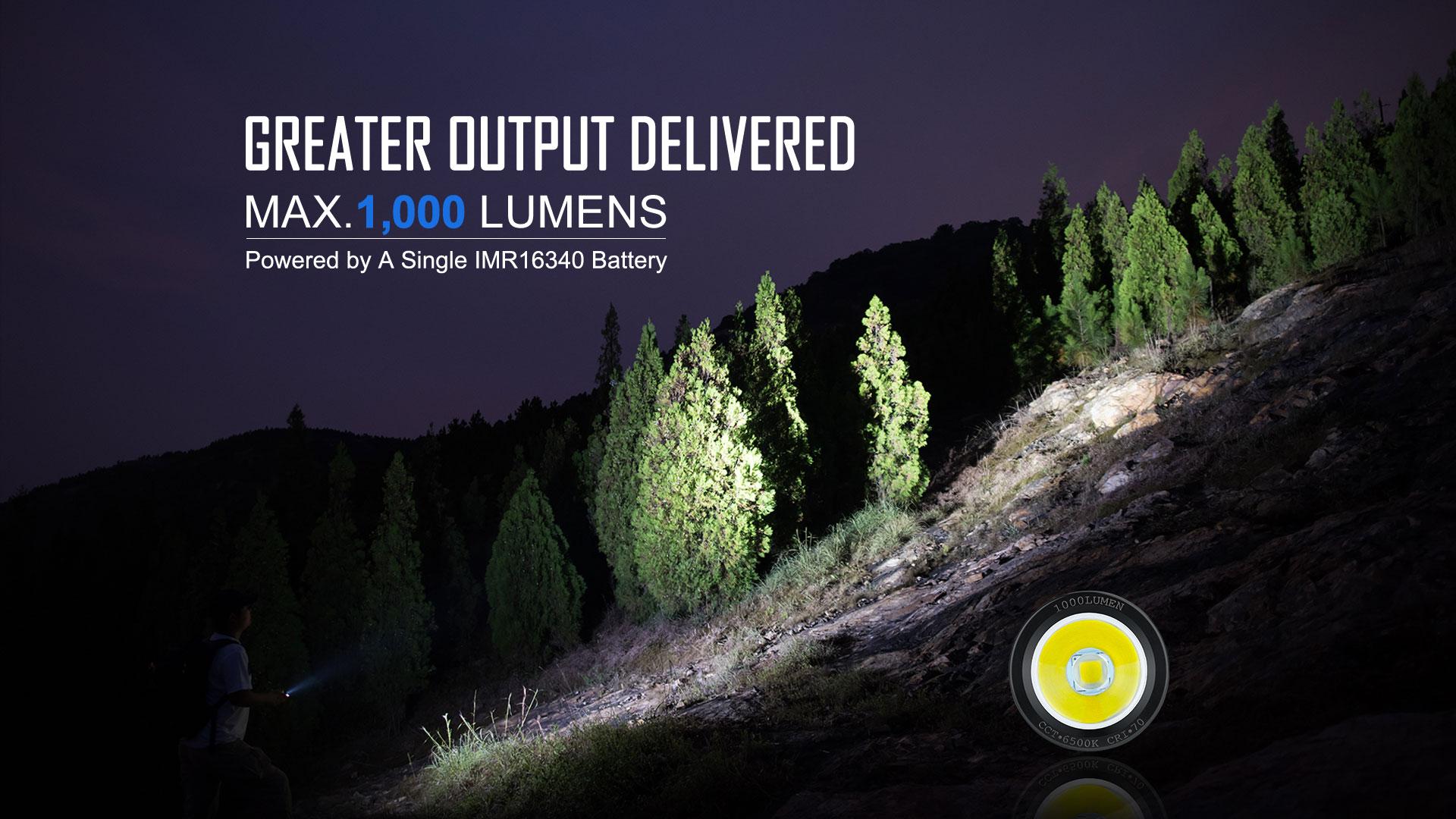 1000 lumens brightest mini flashlight