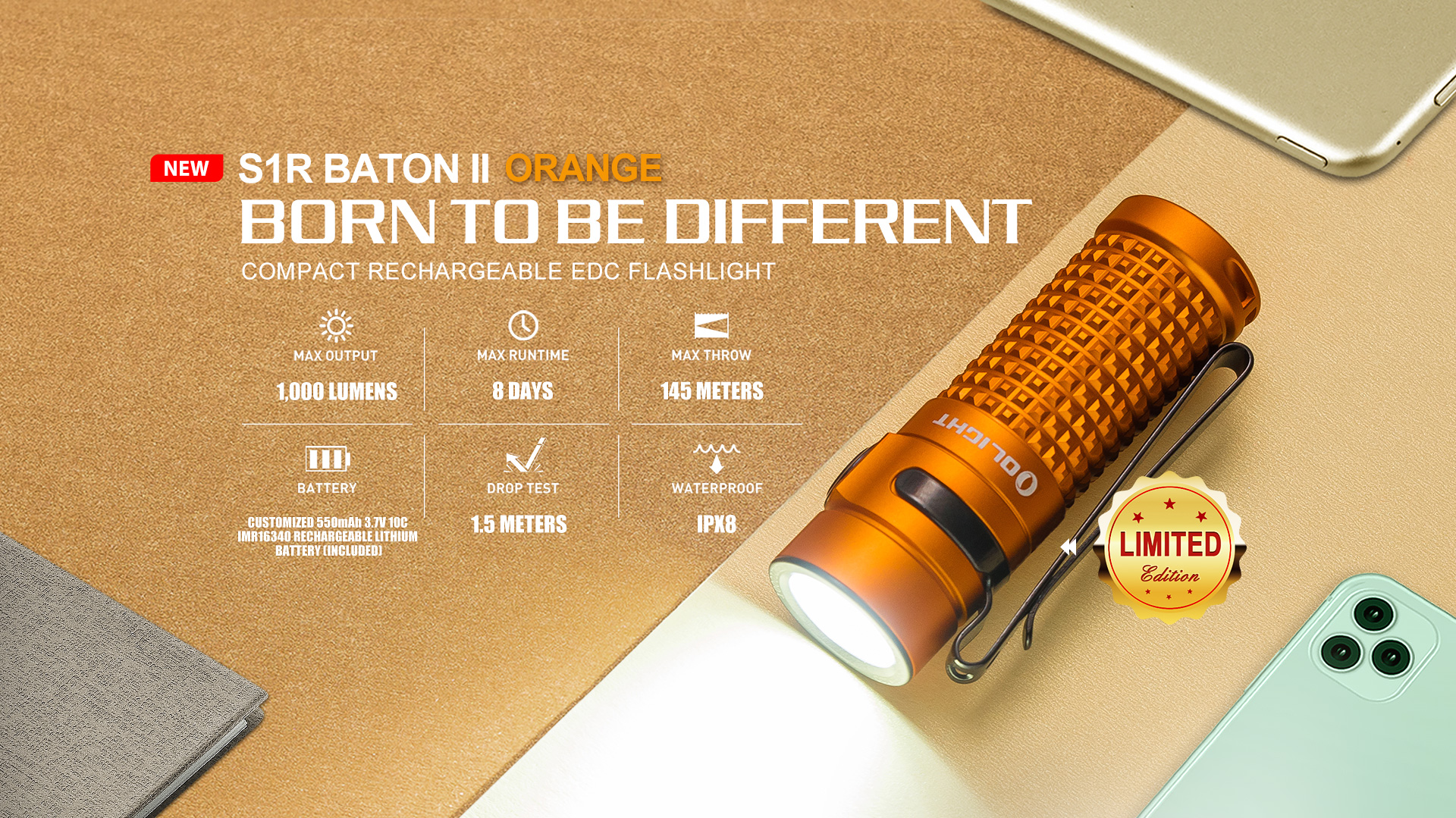S1R Baton II Orange Limited Edition