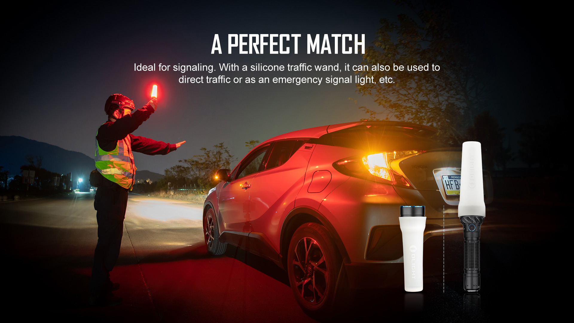 Olight Freyr that can be used as a traffic control light