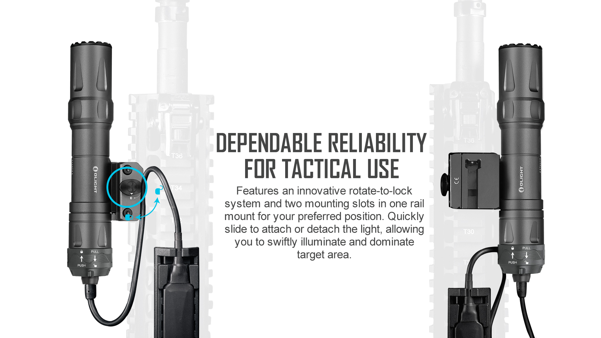 Tactical rail flashlight that can be installed quickly