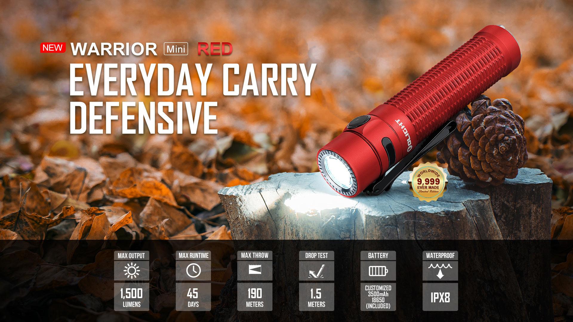 Warrior Mini Red High End EDC Flashlights