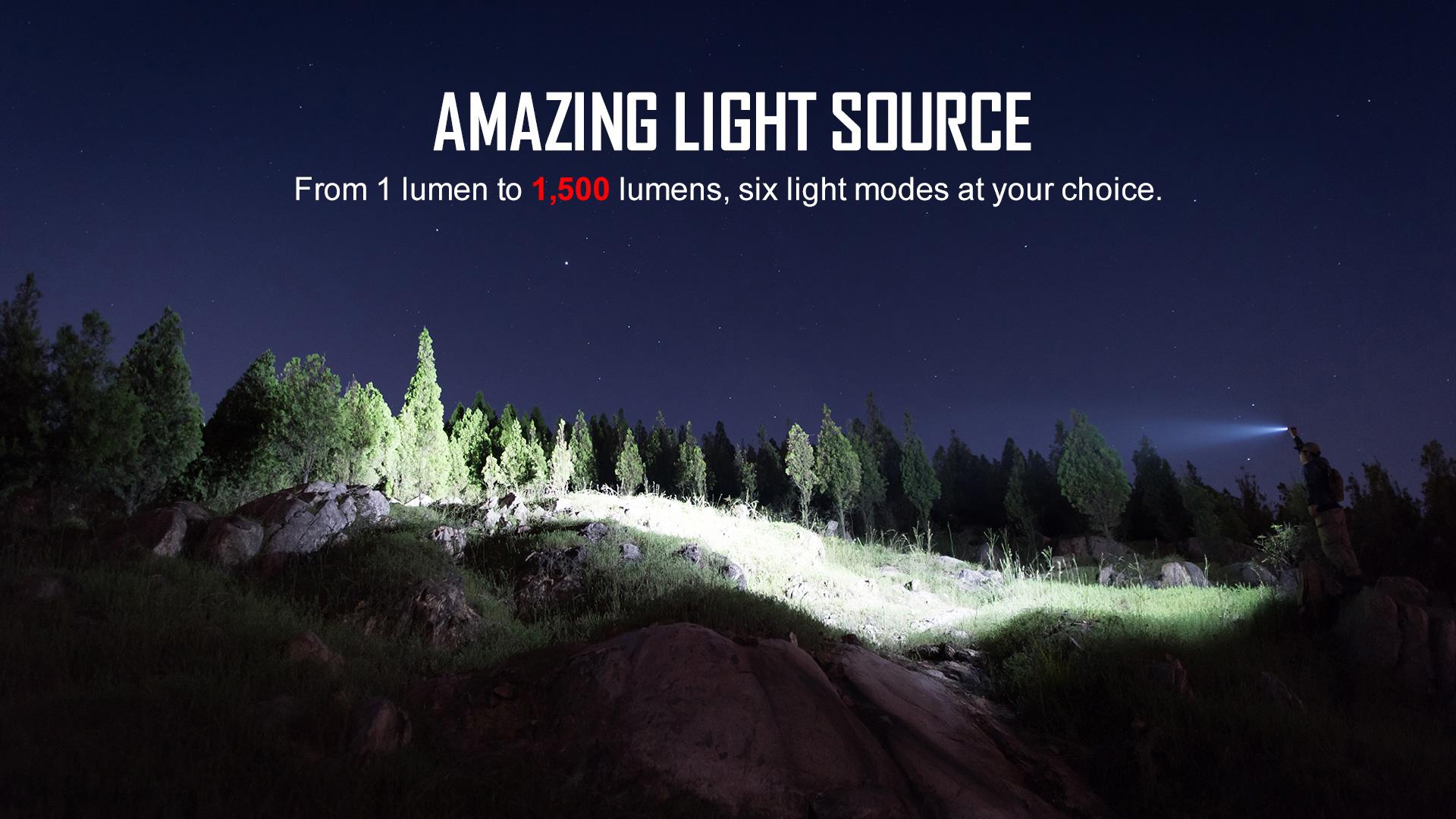 High end EDC flashlights 1500 lumen