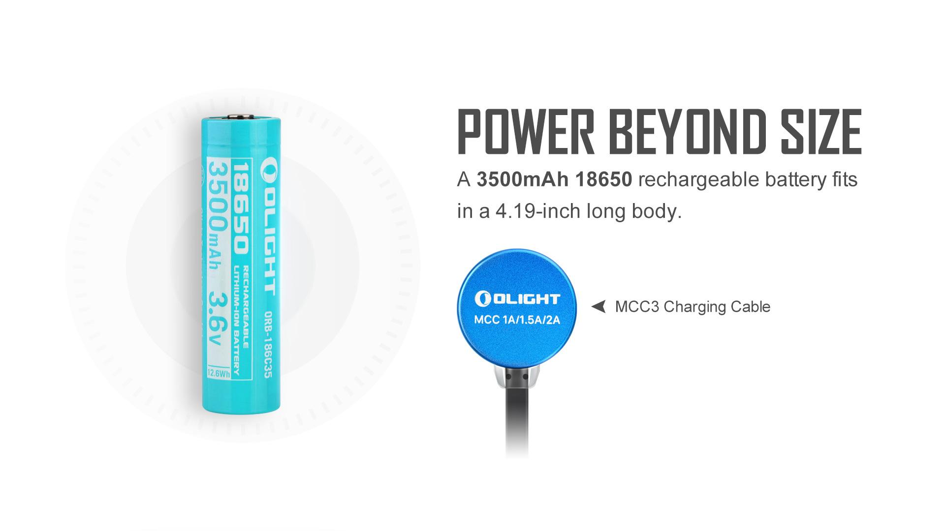 3500mAh rechargeable high end EDC flashlights