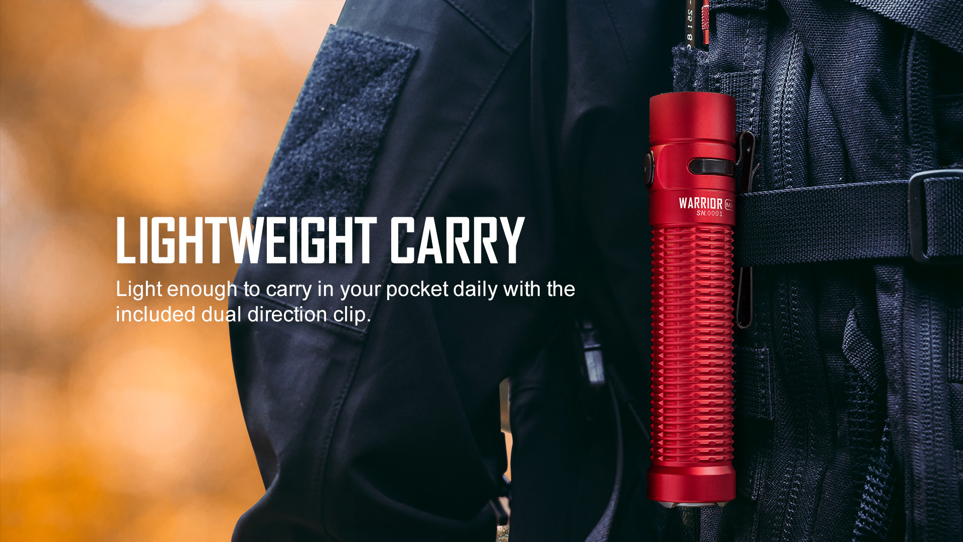 Lightweight and portable high end EDC flashlight