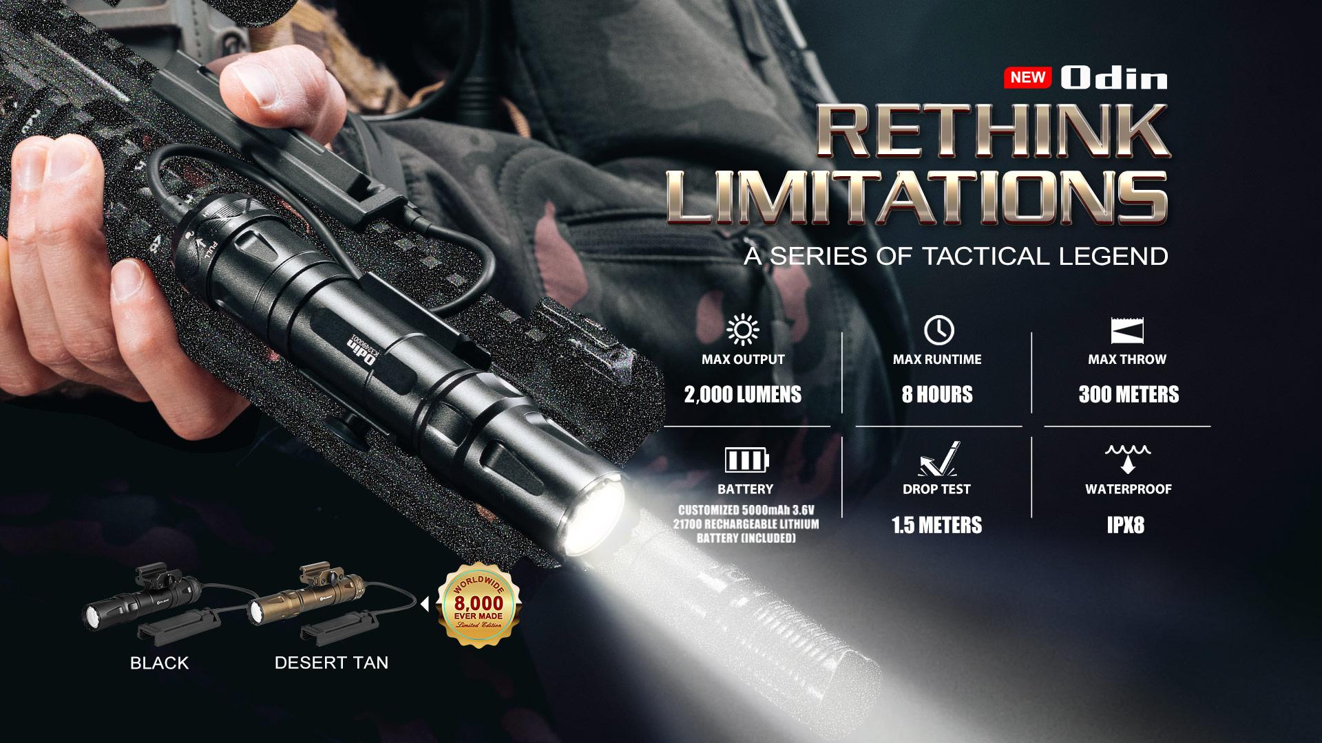 pro tactical flashlight Olight Odin