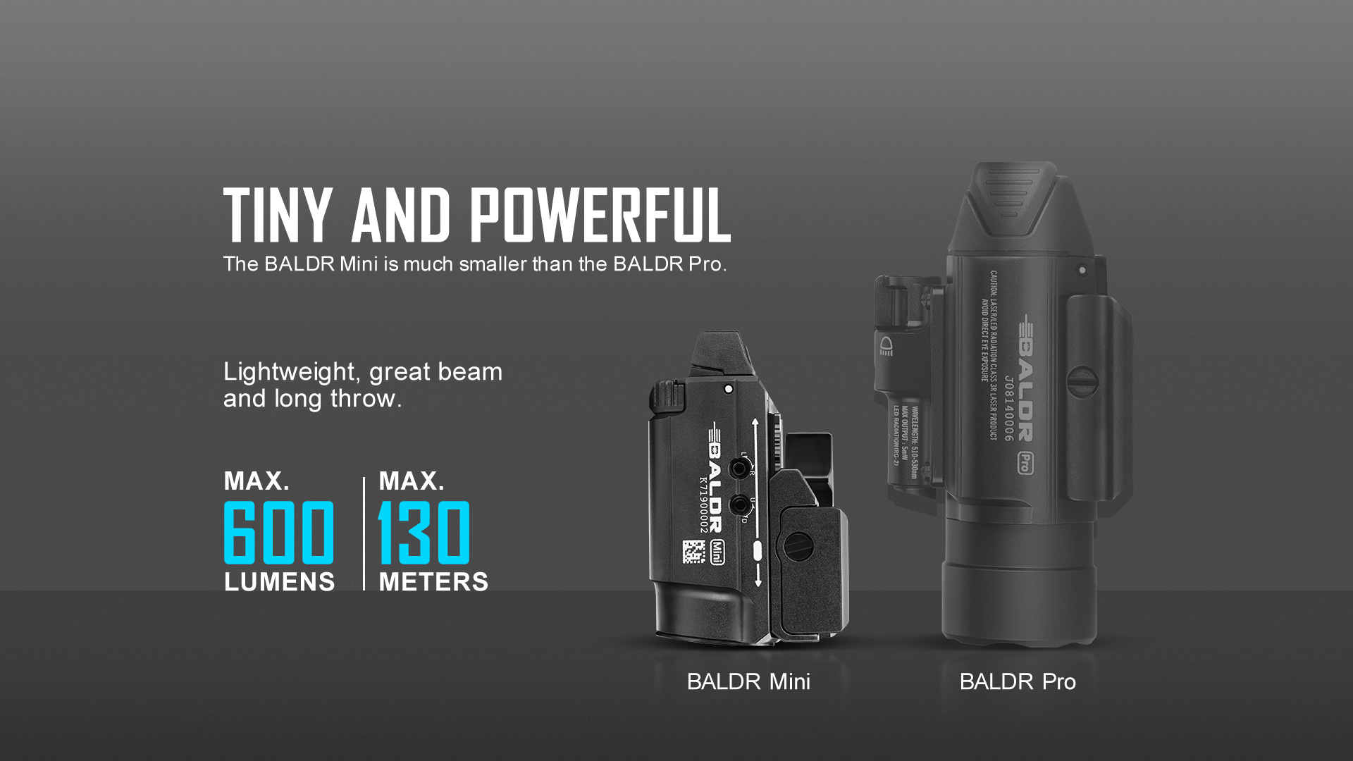 600lumen micro tactical light