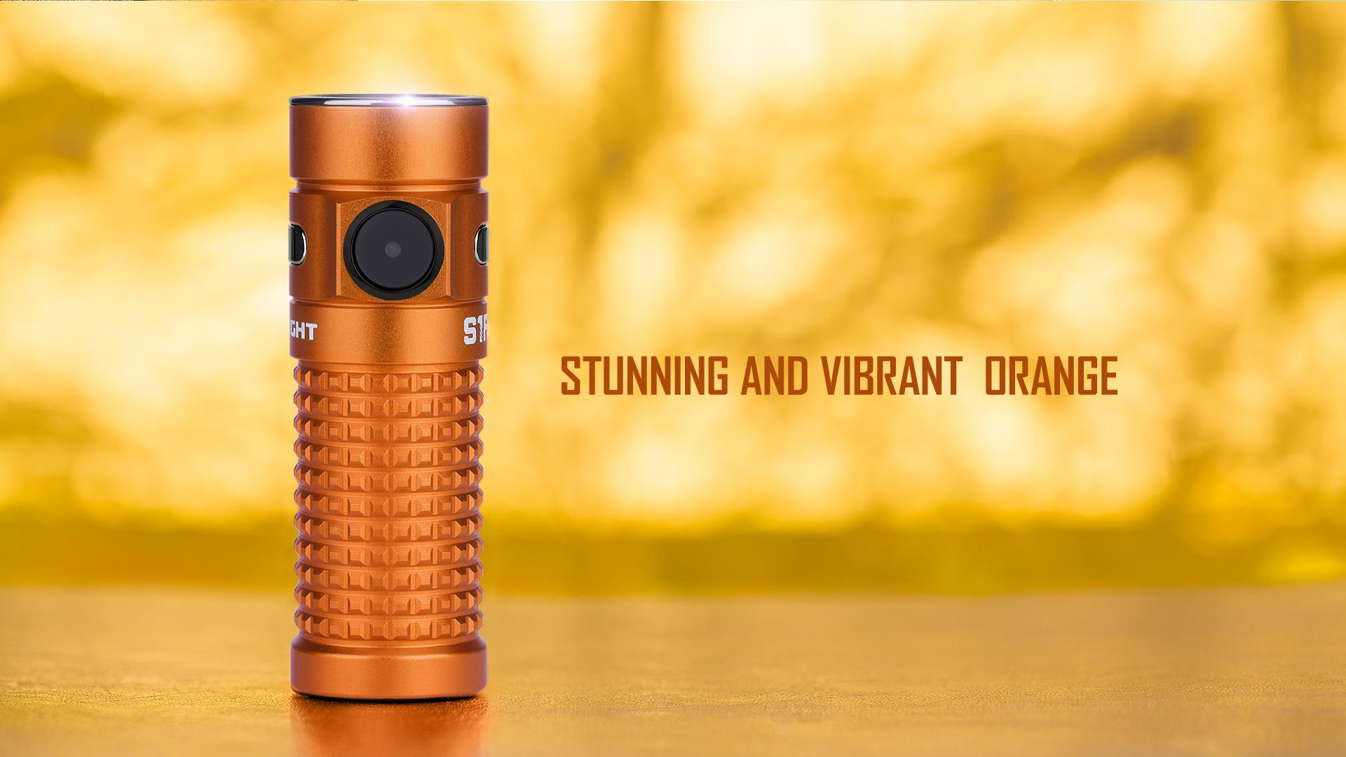 edc pocket flashlight S1R Baton II Orange