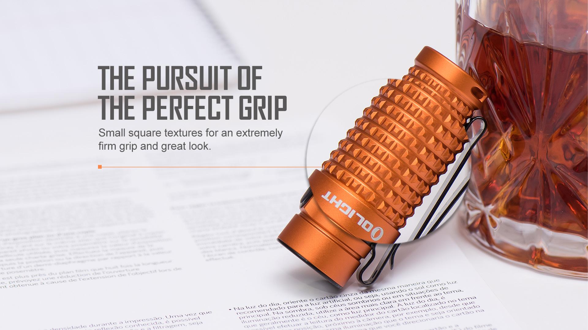 perfect grip experience Olight S1R Baton II