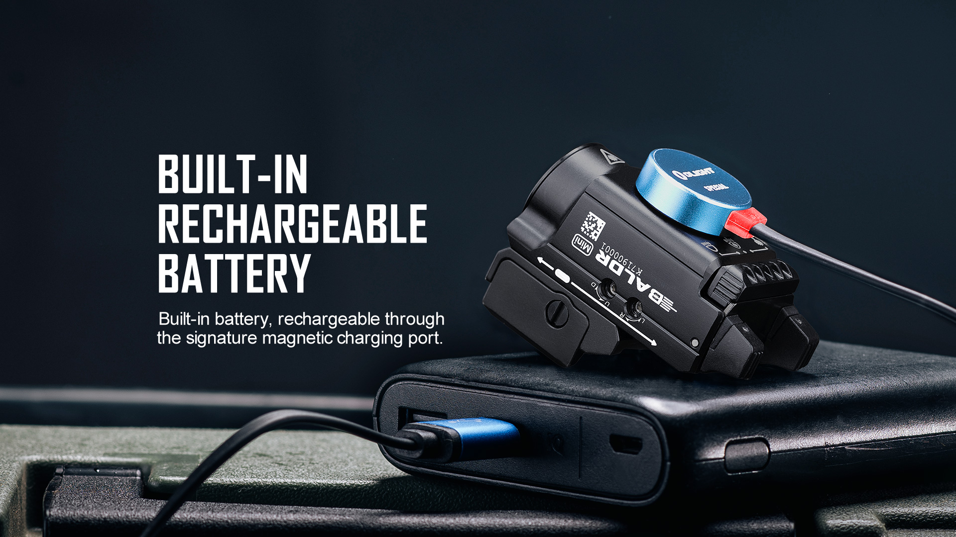 magnetically charged micro tactical light