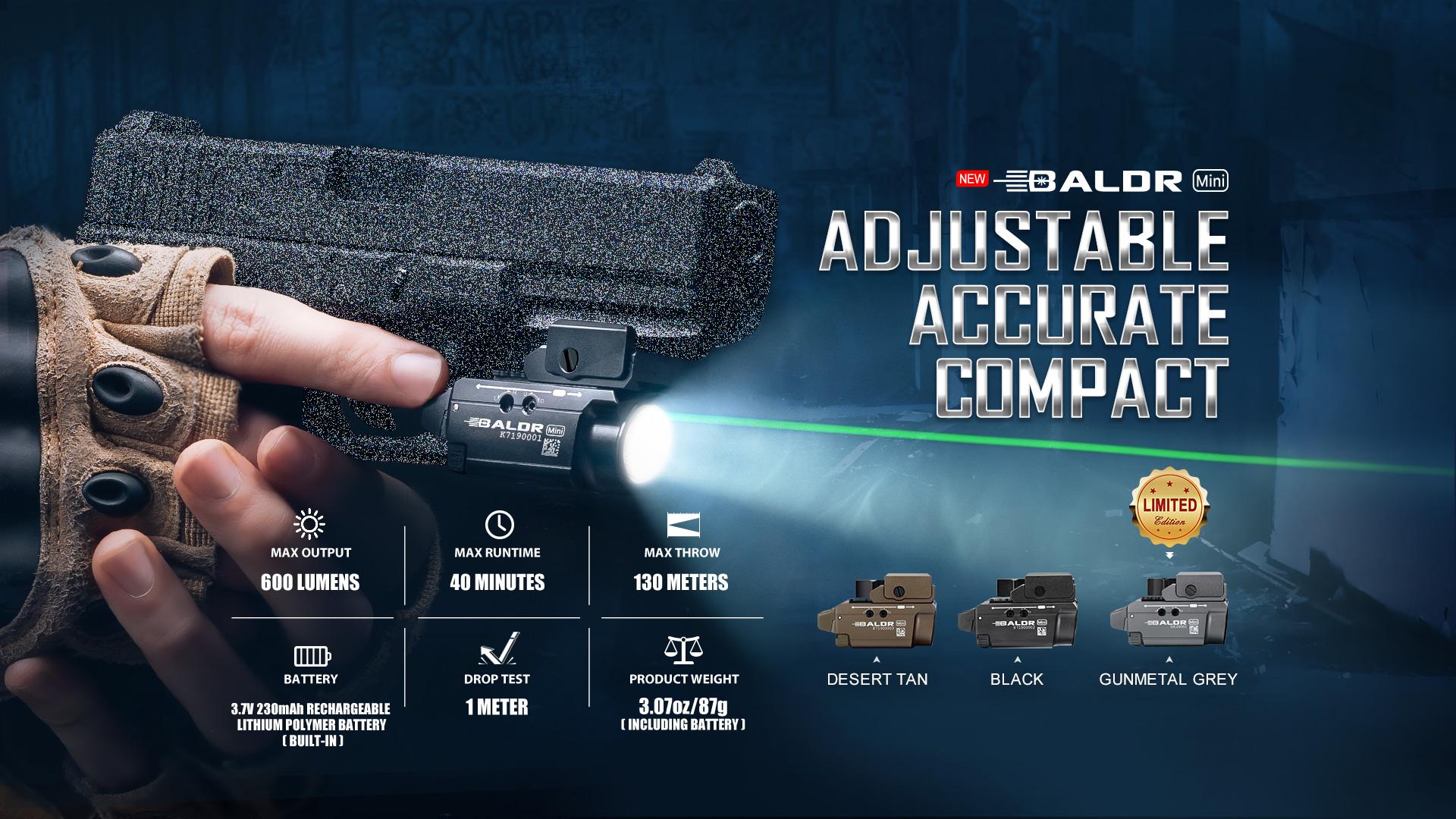 micro tactical light Baldr Mini