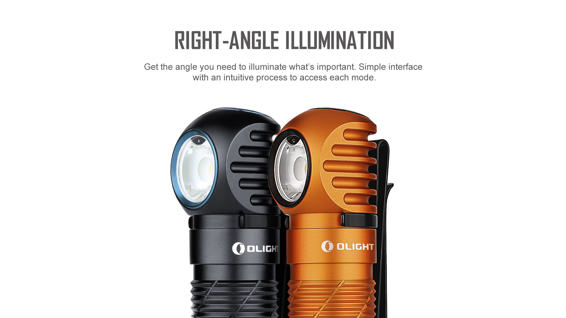 Olight Perun 2 with right angle lighting