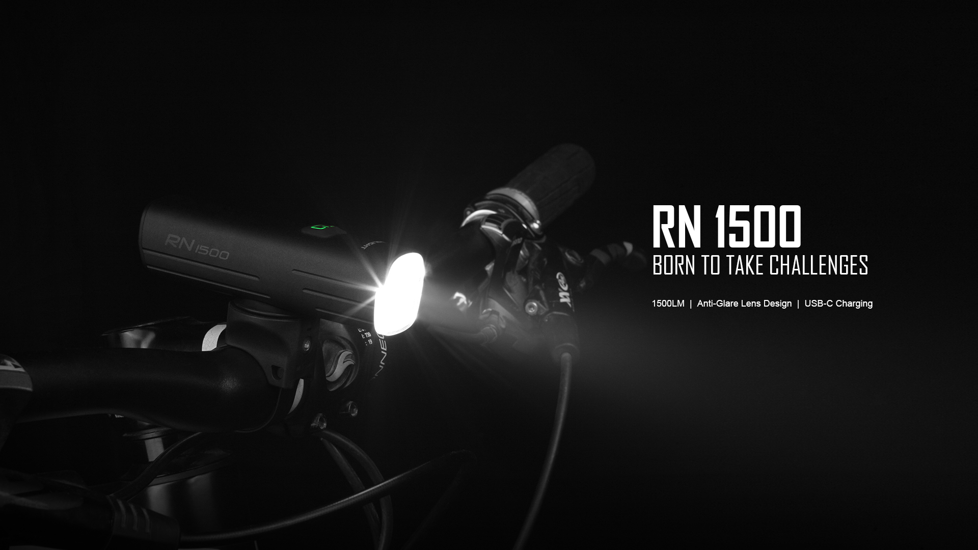 Born to take challenges RN1500 Bicycle Front Light