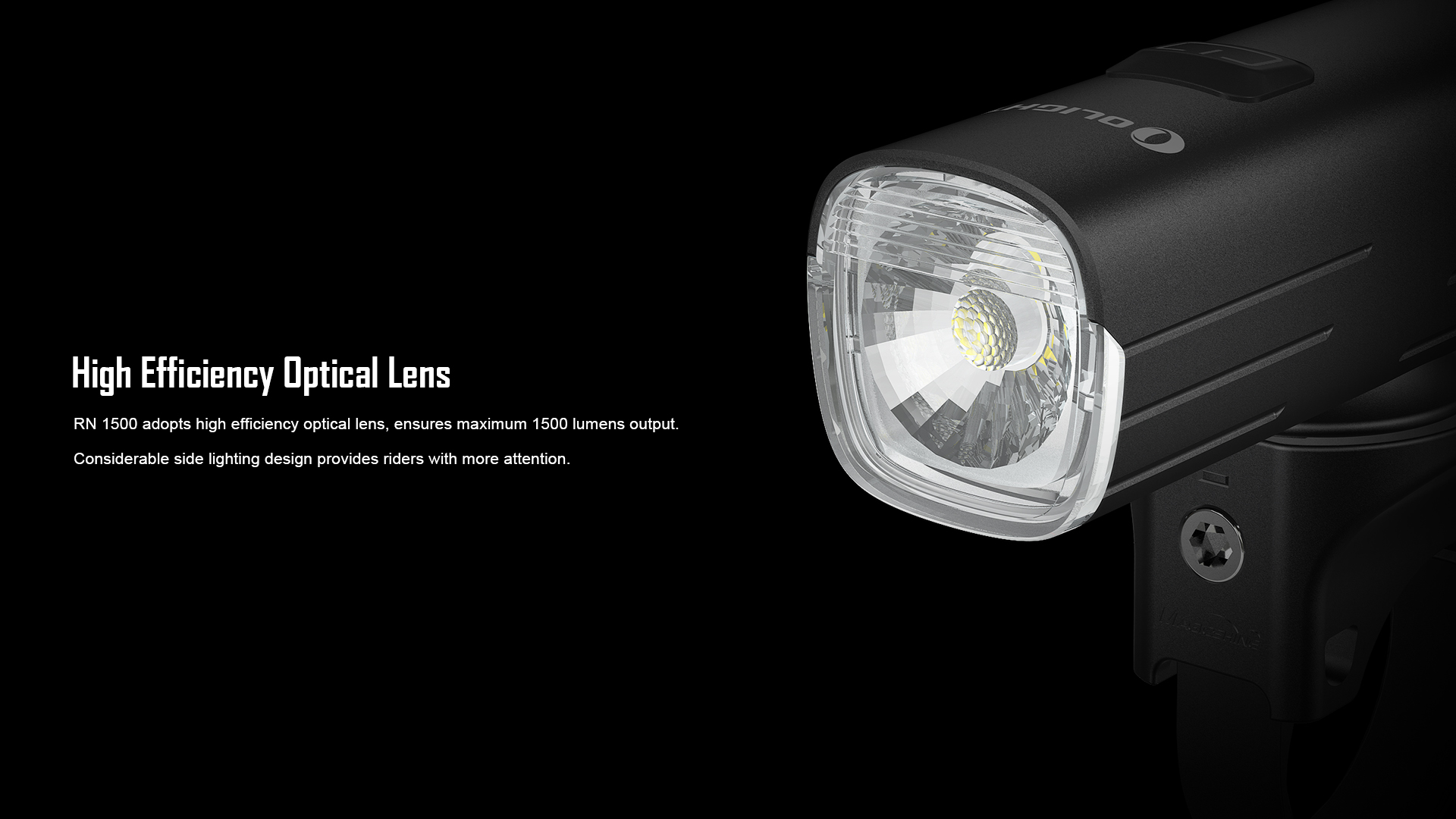 High Efficiency Optical Lens RN1500 Bicycle Front Light