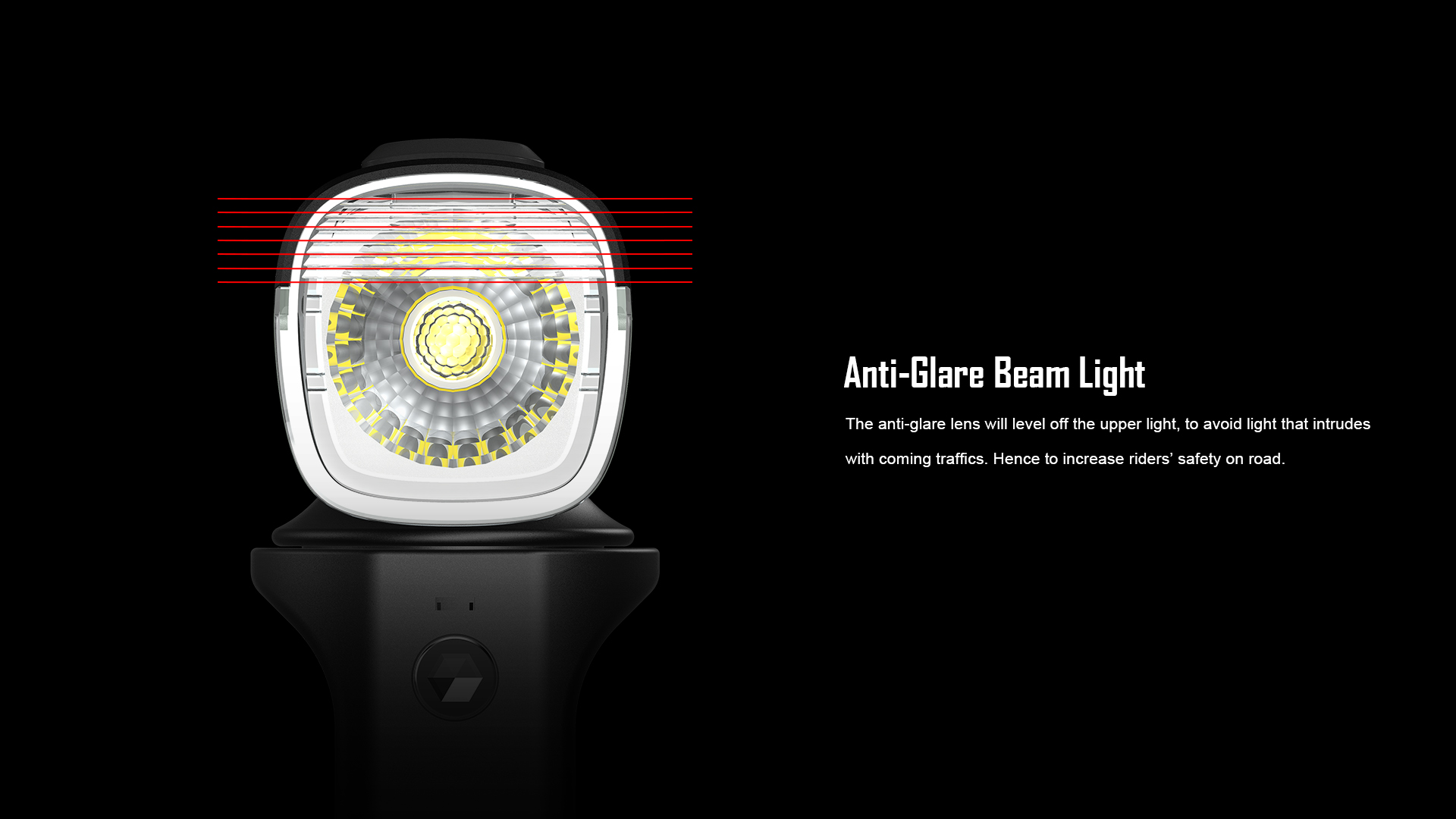 Anti-Glare Beam Light RN1500 Bicycle Front Light