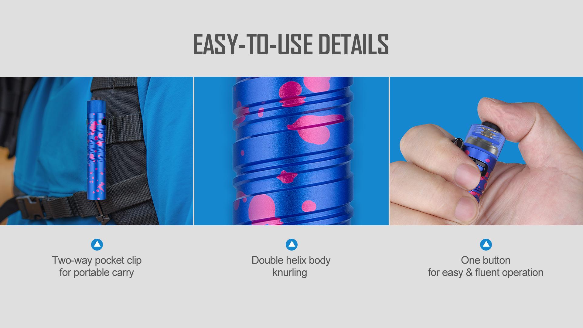 Easy to carry UV LED Flashlight