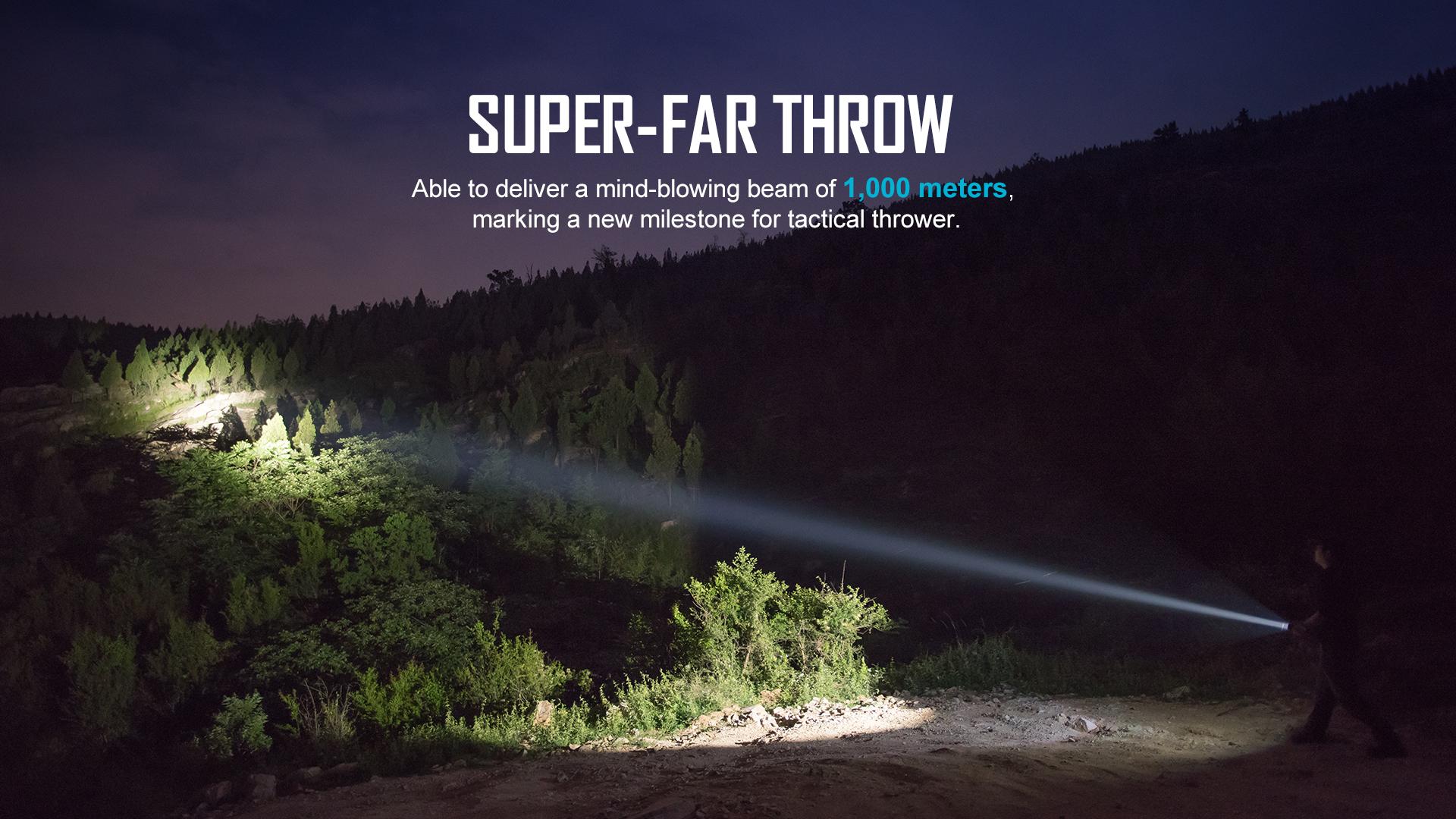 1100 lumen tactical rechargeable flashlight