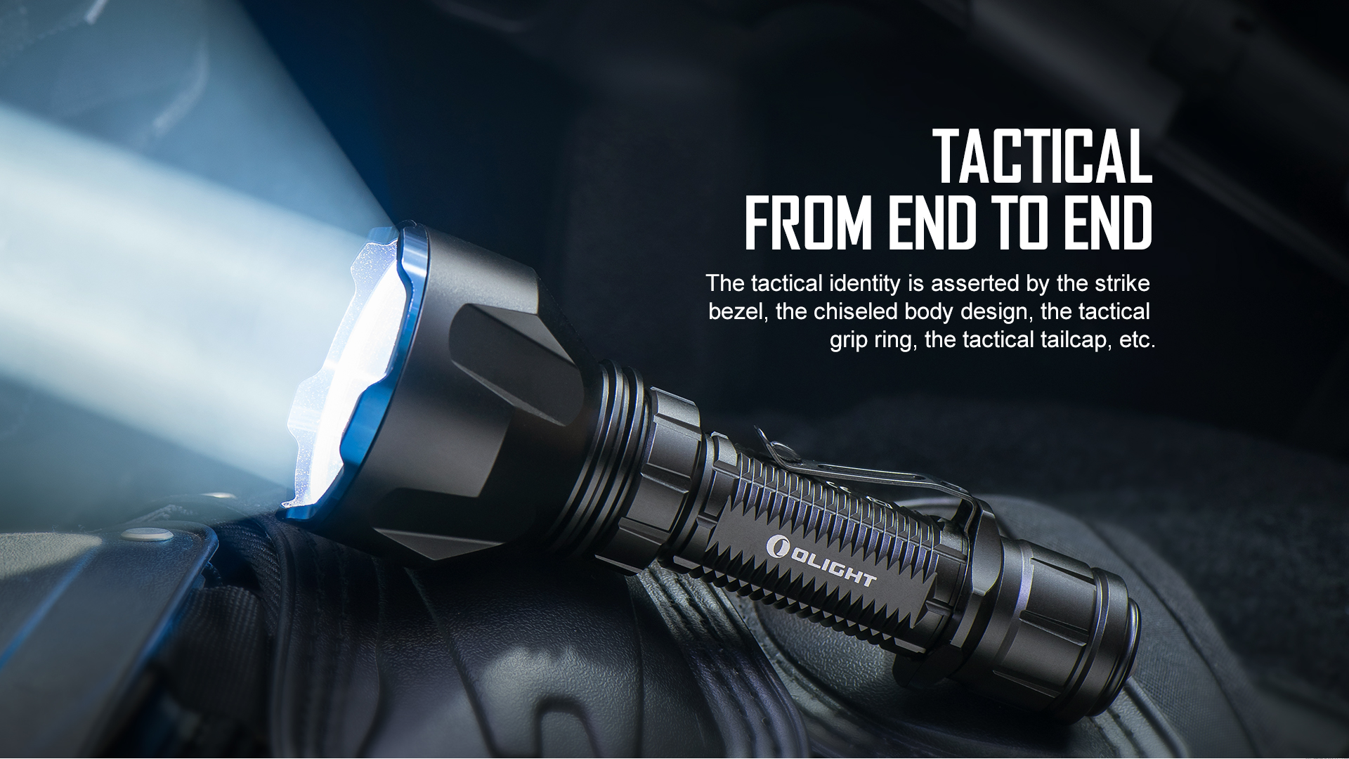 Professionalism tactical rechargeable flashlight