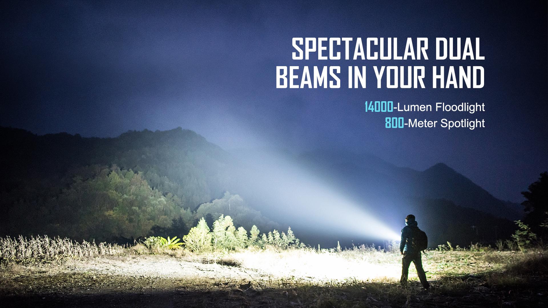 Marauder 2 powerful flashlight 14000 lumens