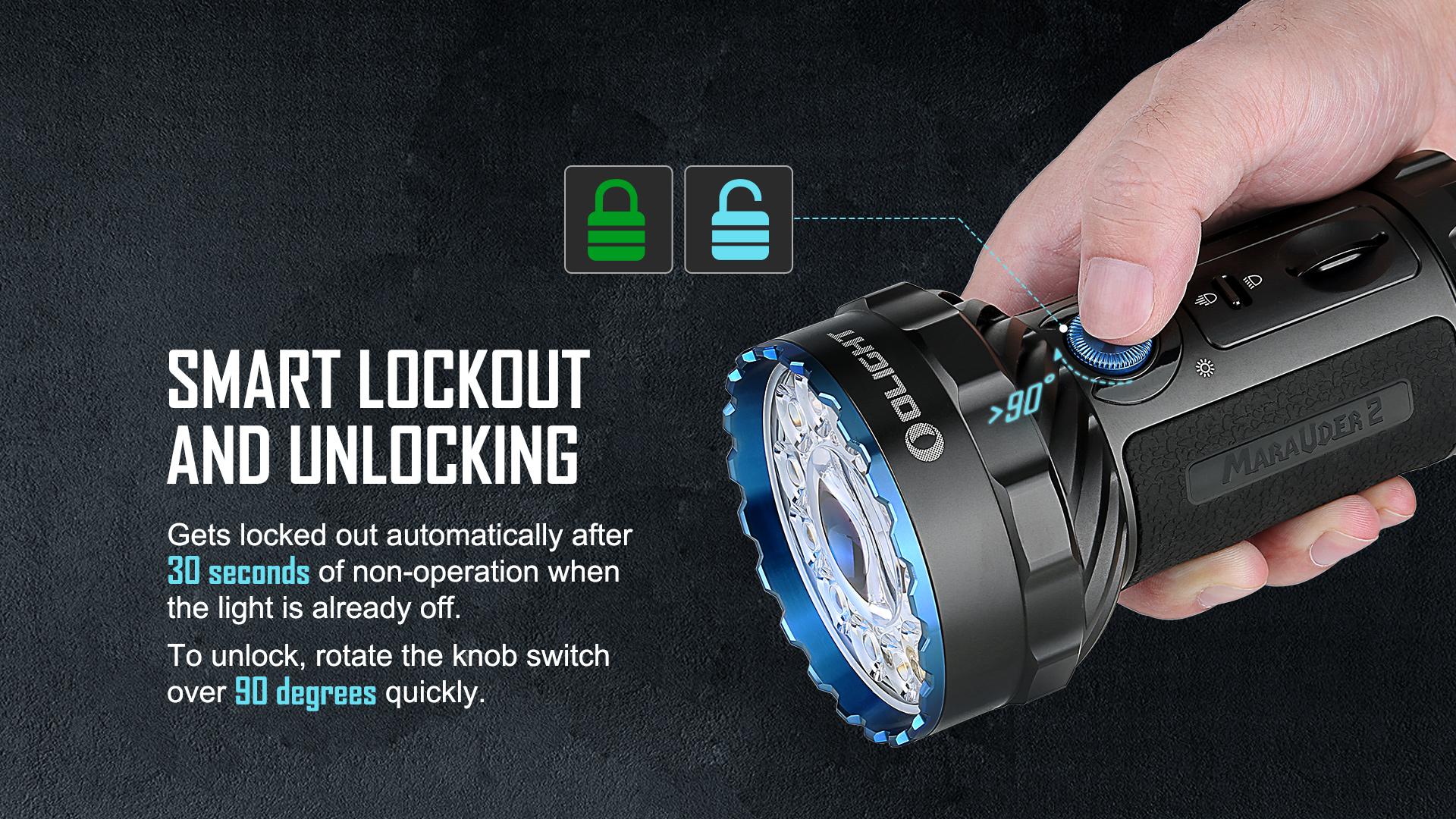 Marauder 2 has smart unlocking and locking