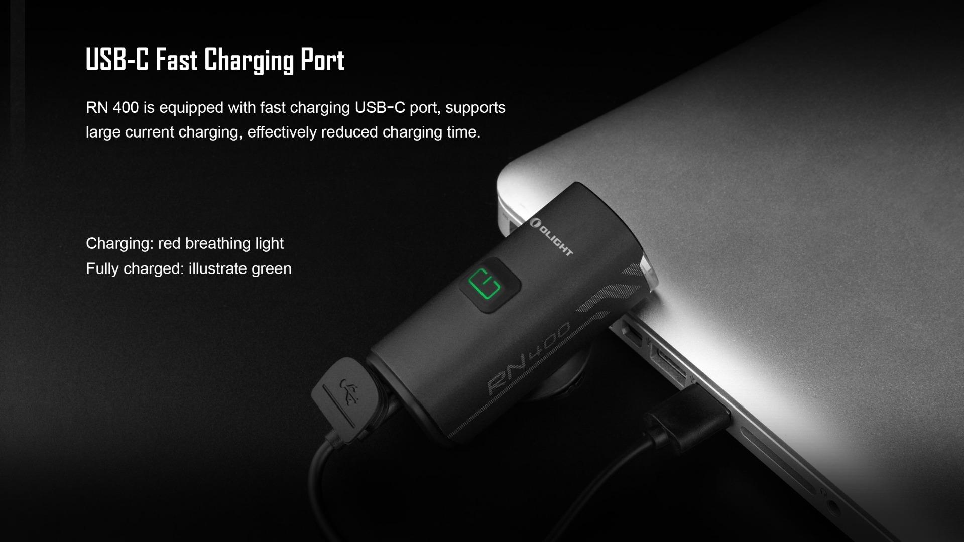 USB type C rechargeable bike headlight