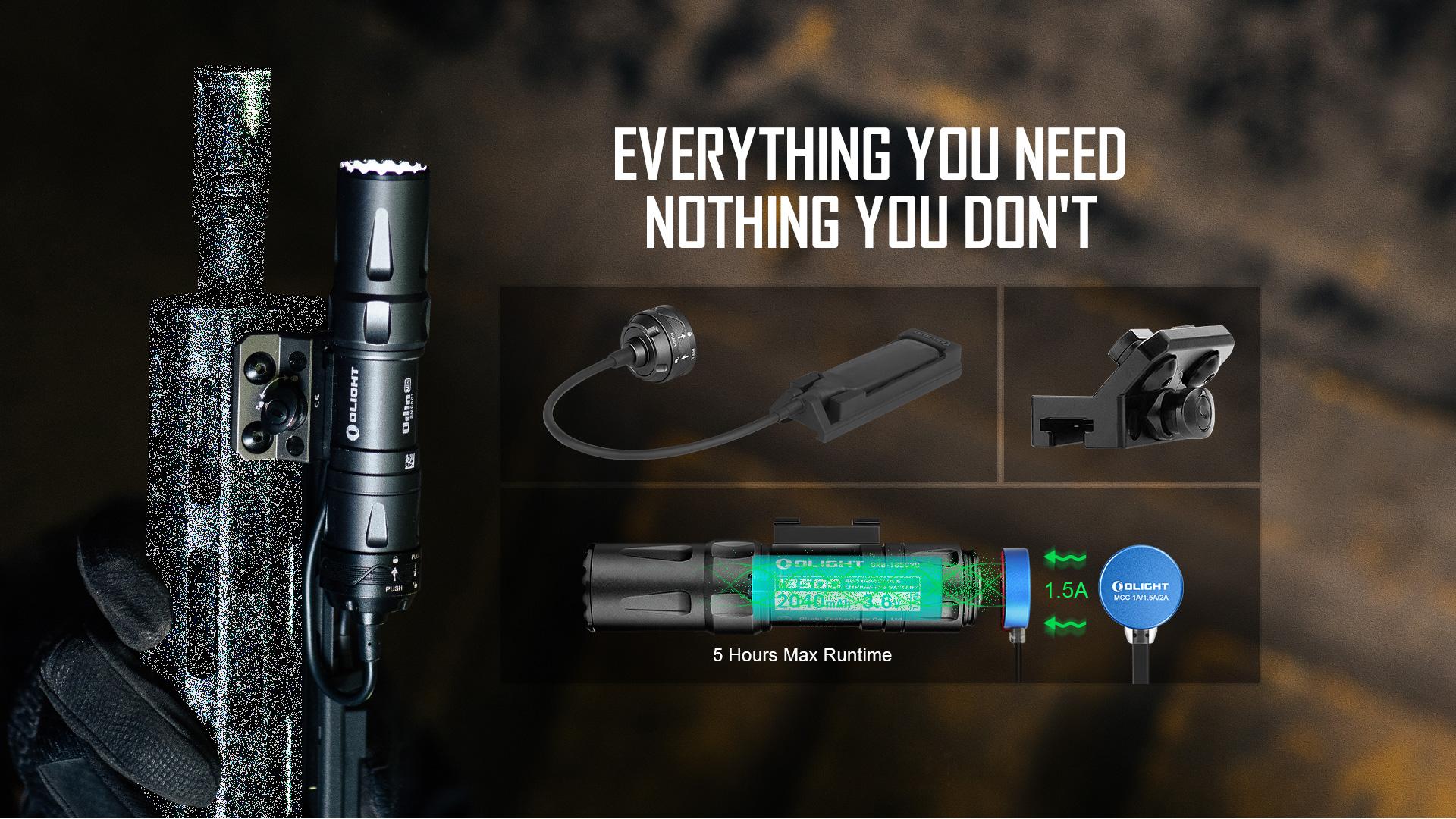 Odin Mini rechargeable tactical LED flashlight
