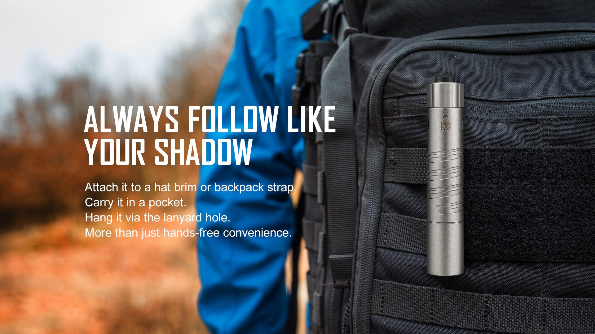 Pocket LED flashlight with two-way pocket clip