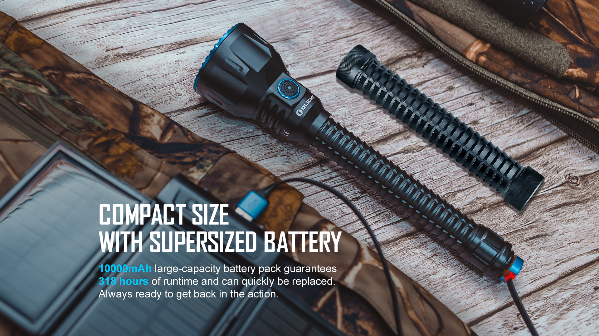 Compact and powerful tactical flashlight