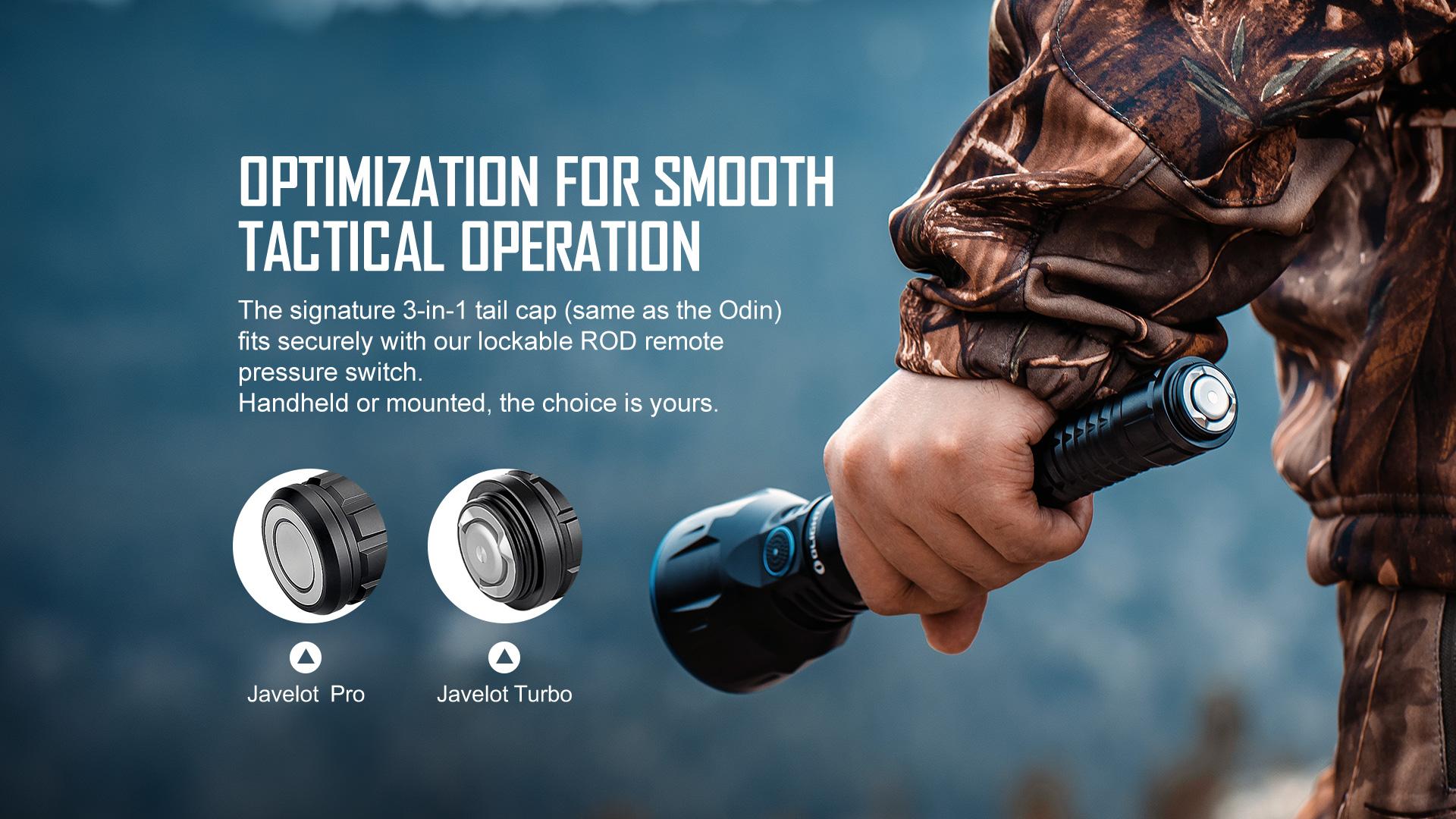 Multi-function tactical flashlight