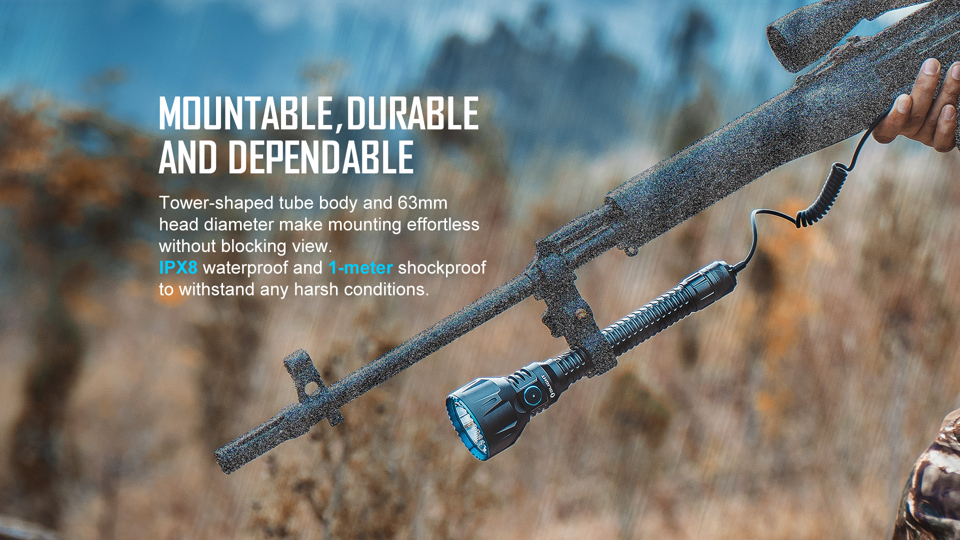 Durable and reliable high lumen tactical flashlight
