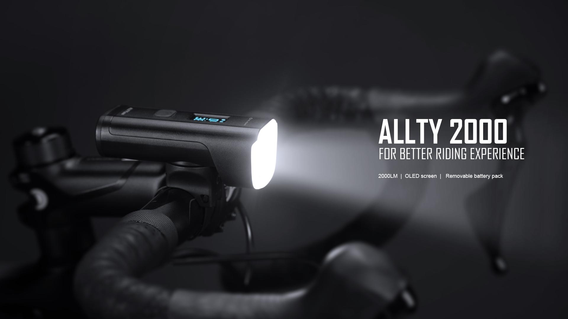 LLTY 2000 rechargeable front bike light