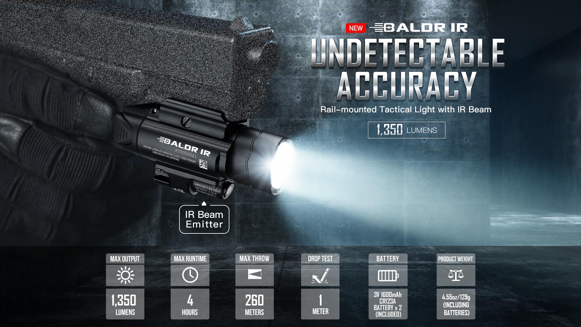 Baldr IR rechargeable tactical light