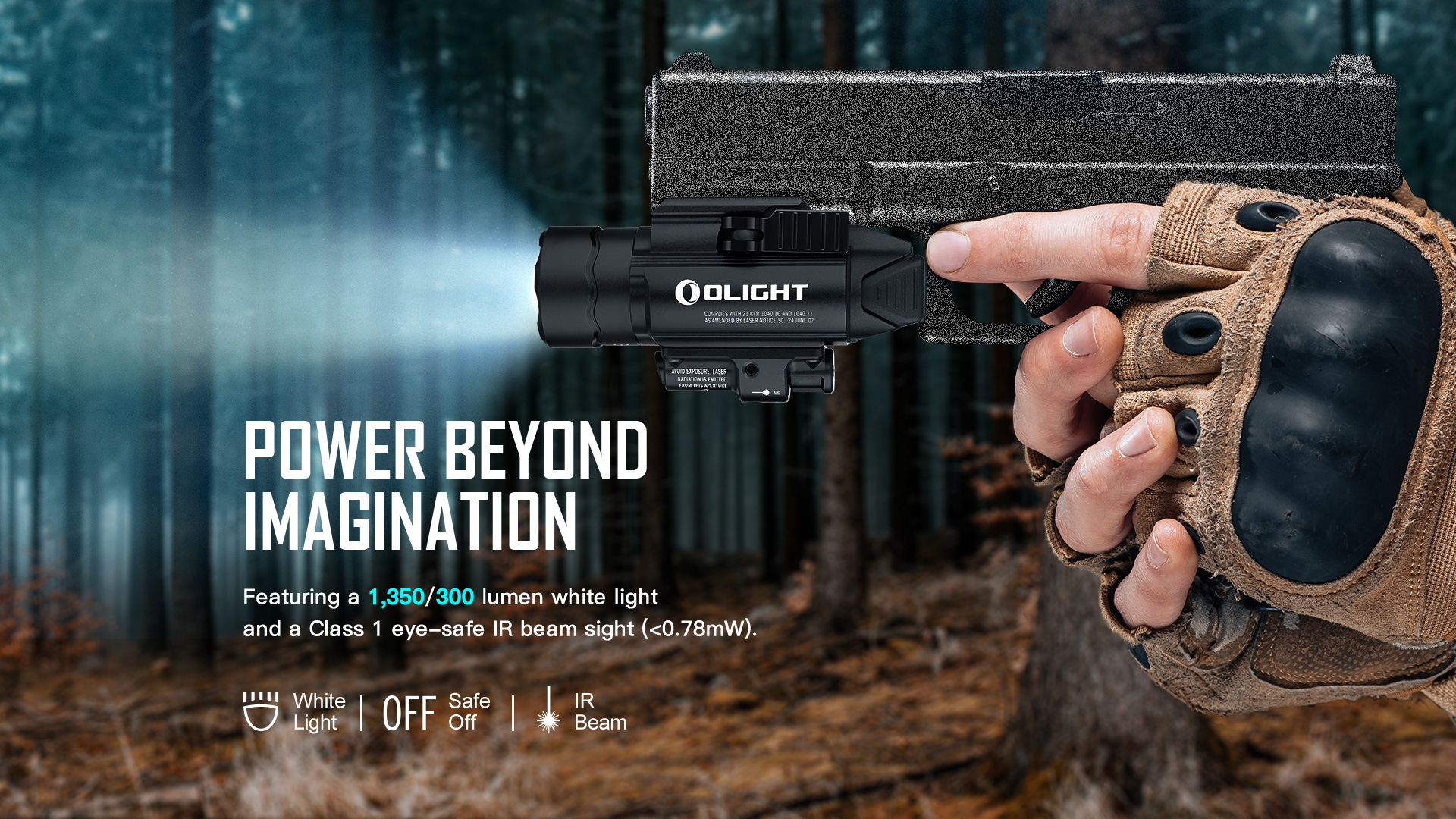 rechargeable tactical light 1350 lumens